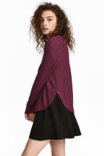 Knitted jumper - Dark purple - Ladies | H&M 1