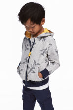 Hooded jacket - Grey/Aeroplane -  | H&M 1
