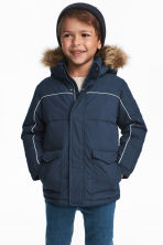 Padded jacket - Dark blue -  | H&M CN 1