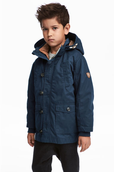 3-in-1-parka with a hood - Dark blue -  | H&M