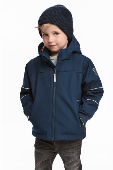 Softshell jacket - Dark blue - Kids | H&M CN 1