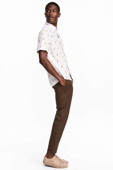 Cotton chinos - Dark brown - Men | H&M 1