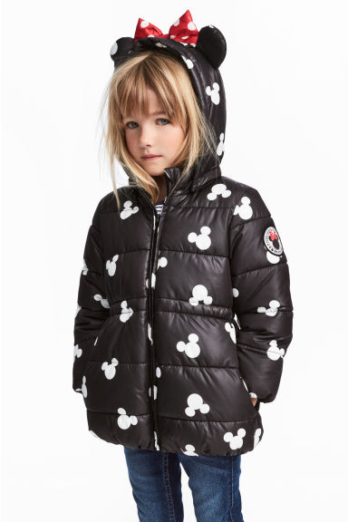 Padded Jacket - Black/Minnie Mouse - Kids | H&M CA