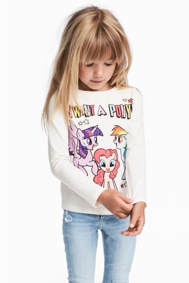 2-pack long-sleeved tops - Blue/My Little Pony - Kids | H&M 1