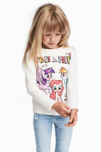 2-pack long-sleeved tops - Blue/My Little Pony - Kids | H&M CN 1