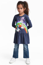 Printed jersey dress - Dark blue/My Little Pony - Kids | H&M CN 1