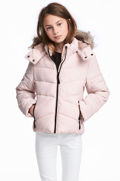 Padded jacket - Powder pink -  | H&M 1