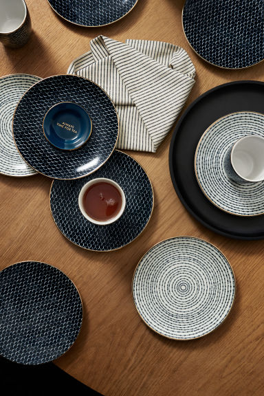 Mini porcelain dish - Dark blue - Home All | H&M CN 1