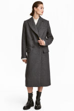 Wool-blend coat - Grey marl - Ladies | H&M CN 1