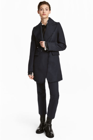 Short cotton-blend coat Model