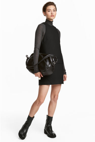 Wool-blend dress - Black - Ladies | H&M 1