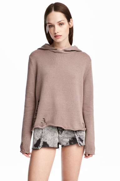 Hooded jumper - Taupe -  | H&M