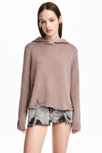 Hooded jumper - Taupe - Ladies | H&M CA 1