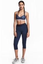 3/4-length sports tights - Dark blue - Ladies | H&M CN 1