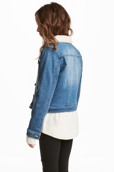 Pile-lined Denim Jacket - Denim blue - Kids | H&M CA