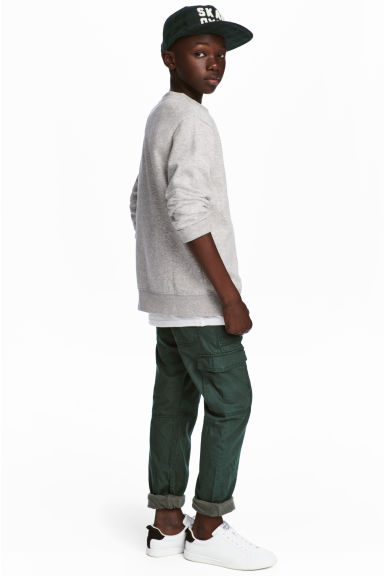 Lined cargo trousers - Dark green - Kids | H&M