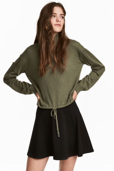 Drawstring jumper - Khaki green - Ladies | H&M CN 1