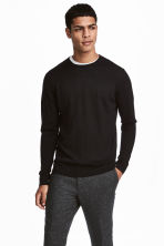 Merino wool jumper - Black - Men | H&M 1