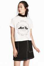 T-shirt corta - Bianco - DONNA | H&M IT 1