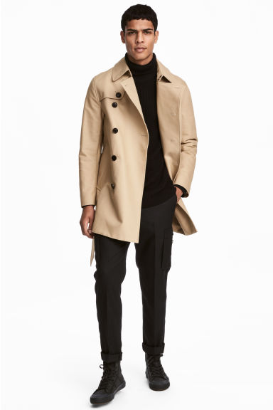 Short trenchcoat - Beige - Men | H&M CN 1