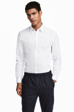 Stretch Shirt Slim fit - White - Men | H&M CA 1
