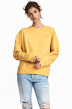 Sweater met borduursel - Geel/Possibilities - DAMES | H&M BE 1