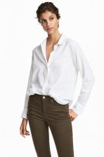 Cotton shirt - White - Ladies | H&M IE 1