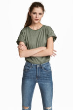 長版T恤 - Khaki green - Ladies | H&M 1