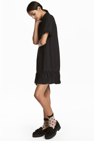 Short Dress - Black - Ladies | H&M CA 1
