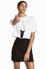 Top with lacing - White - Ladies | H&M 1