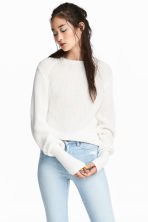 Ribbed jumper - White - Ladies | H&M 1