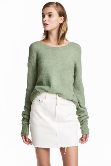 Knitted jumper - Light green - Ladies | H&M CN 1