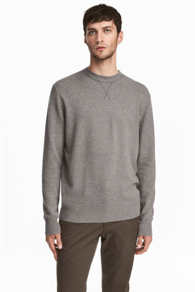 Cashmere jumper - Grey marl - Men | H&M CN