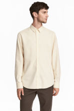 Raw silk shirt - Cream - Men | H&M GB 1