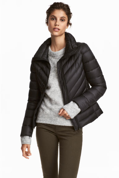 Lightweight down jacket - Black - Ladies | H&M CN 1