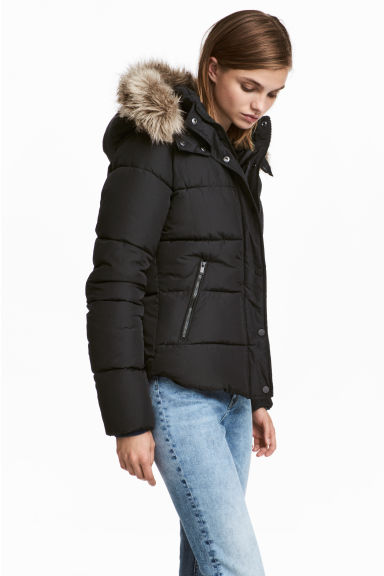 Padded jacket - Black - Ladies | H&M CN 1