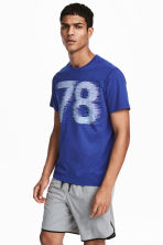 Printed sports top - Blue - Men | H&M CA 1