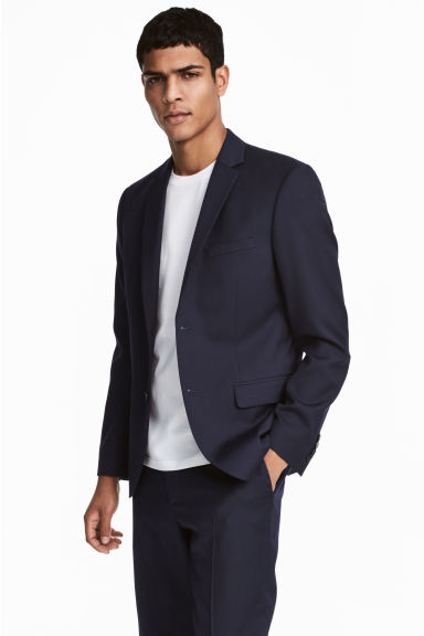 Wool jacket Regular fit - Dark blue -  | H&M