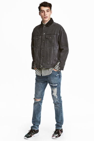 360° Flex Slim Jeans - Light denim blue/Trashed - Men | H&M 1