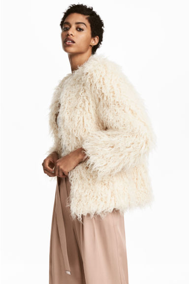 Faux fur jacket - Natural white - Ladies | H&M IE