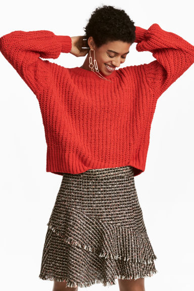 Loose-knit jumper - Red - Ladies | H&M IE