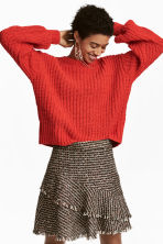 Loose-knit jumper - Red - Ladies | H&M 1