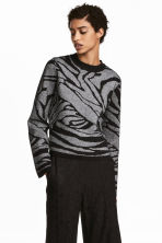 Glittery jumper - Black/Silver-coloured - Ladies | H&M 1