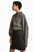 Wide jumper - Black/Glitter - Ladies | H&M IE 1