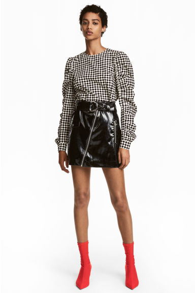 Patent skirt - Black - Ladies | H&M 1