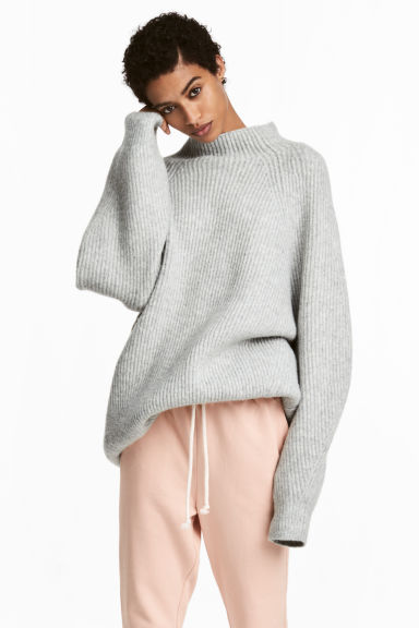 Knitted jumper - Grey - Ladies | H&M CN 1