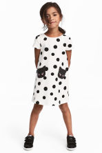 Patterned Dress - Natural white/dotted - Kids | H&M CA 1