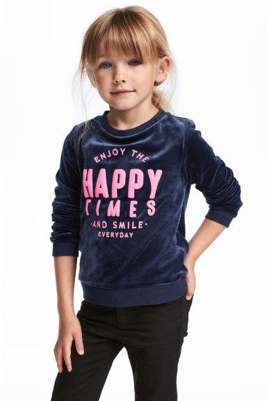Sweatshirt - Dark blue -  | H&M