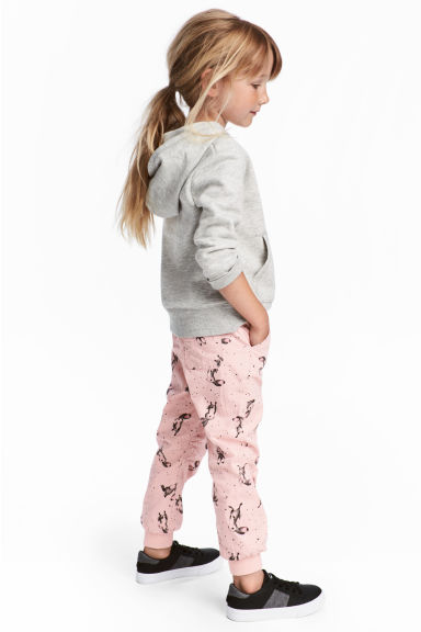 Pull-on trousers - Light pink/Rabbits - Kids | H&M