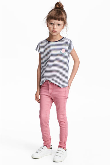 Twill trousers - Pink - Kids | H&M CN